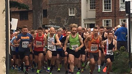 Worstead Festival five-mile run. The start of the race. Pictures: David Bale