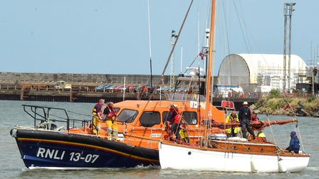 Lowestoft Lifeboat was called to help the yacht Nancy Blackett � which was stranded with engine fail