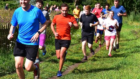 Runners enjoy the 200th Catton Parkrun.Picture: Nick Butcher