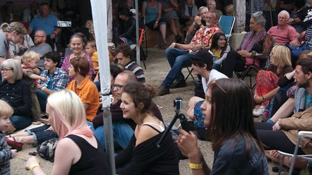 The audience enjoying Southburgh Festival of World Music, near Dereham. Picture: GIDEON GRAYLYONS.