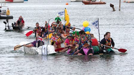 Scenes from the 2017 Wells Carnival raft race. Picture: CY FOR WELLS CARNIVAL.