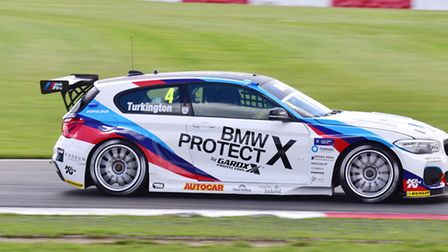 Team BMW driver Colin Turkington settled for second place in race two behind Ashley Sutton. Picture: