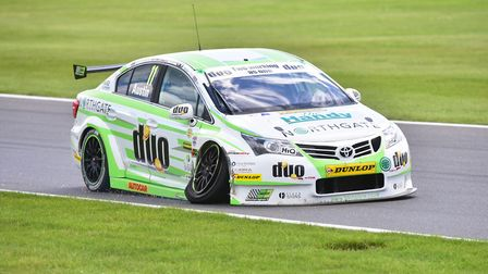 Rob Austin (Handy Motorsport) had to retire after seven laps in race one.Picture: Nick Butcher