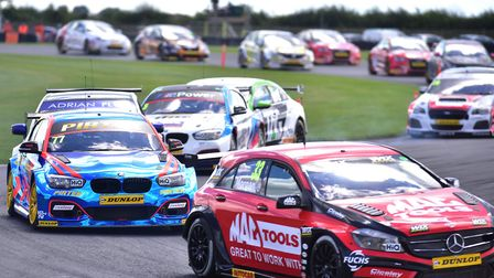 Action from race one at Snetterton. Picture: Nick Butcher