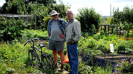 Plot holders welcomed visitors to see their handiwork at the Hunstanton Allotment open day. Picture: