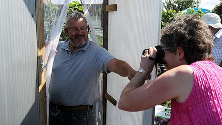 Mick Wing (left) is photographed by Town and Around's Elaine Bird. Picture: Chris Bishop
