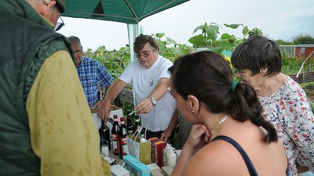 The raffle did a busy trade at Hunstanton Allotments open day. Picture: Chris Bishop