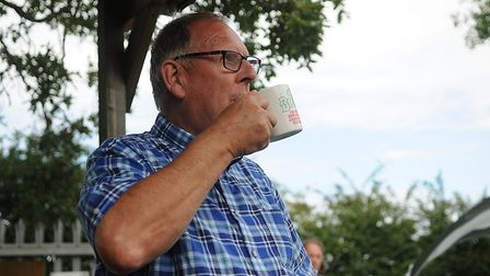 Paul Emerson enjoys a well-earned cuppa at Hunstanton Allotment open day. Picture: Chris Bishop