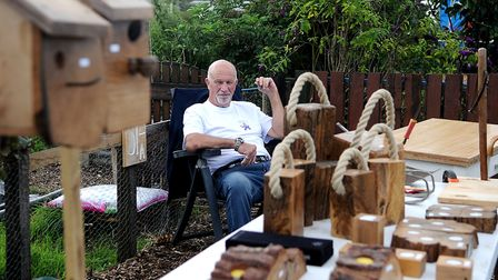 Alan Rowe on his craft stall at Hunstanton Allotments open day. Picture: Chris Bishop