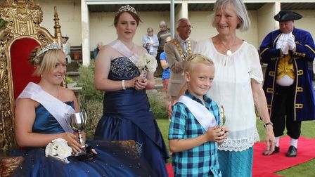 Former district councillor Hilary Nelson with Sheringham carnival queen Abby Dowsett-Olby, attendant