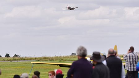 Old Buckenham airshow 2017. A mustang in the air.Picture: Nick Butcher