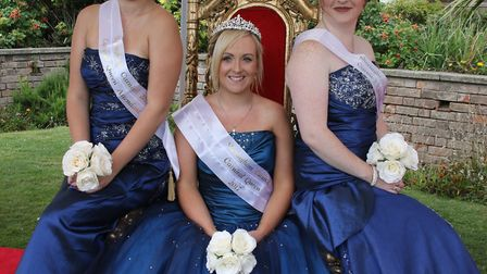 Carnival Queen Abby Dowsett-Olby is supported by her Attendants Natasha Grand and Chloe Hambling. PI