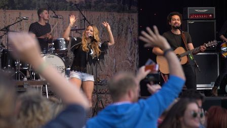 The Shires performing at the Outside Live concert at Taverham Hall. Photo: Richard Jarmy