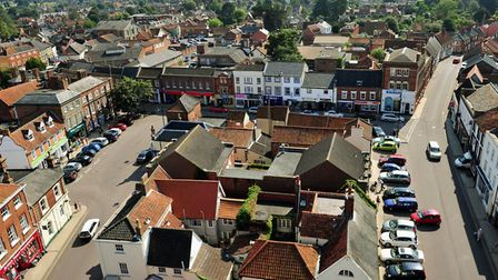 The view of Becckes from the clock tower. Picture: Archant.