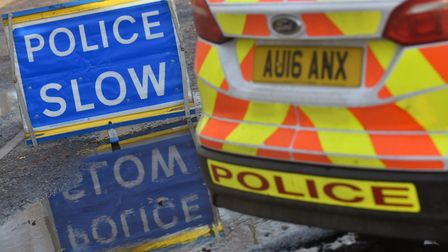 The road was closed while waiting for recovery vehicles. Picture: Archant