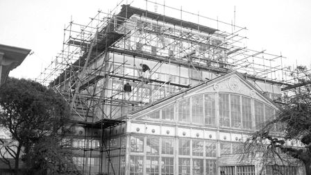 GREAT YARMOUTH WINTER GARDENS UNDER REPAIR SHROUDED WITH SCAFFOLDING NO DATE PLATE P6460