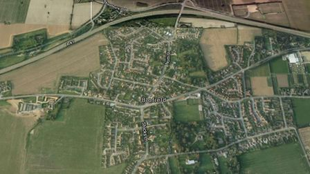 Shack Lane, which is located to the north of Blofield and the A47. Photo: Google Maps.