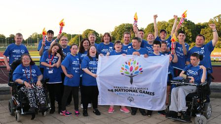 Members of the Norfolk squad heading for the Special Olympics National Games. Picture: Charlotte Har