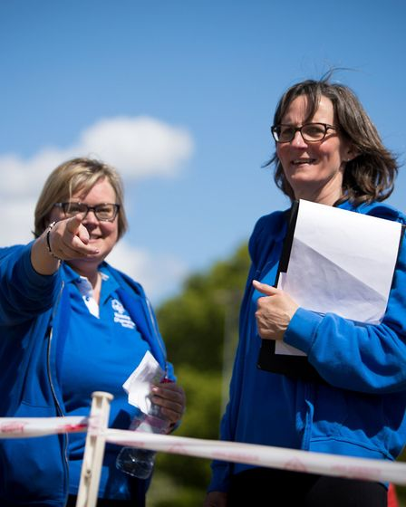 Chairperson Nicola Fish, left, and Kay Bailey, responsible for sports development, are two key membe