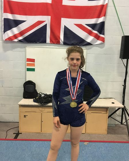 Evie Rodwell won four golds at the recent National Down's Syndrome Championships. Picture: Jo Rodwe