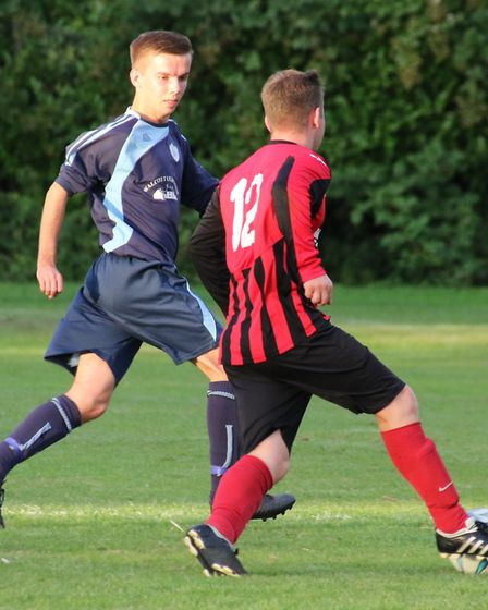 Cromer Town in action against Buxton. Picture: Ally McGilvray