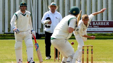 Olly Stone in action during Norfolk's five-wicket win over Lincolnshire in the Unicorns Knockout Tro