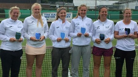 The Norfolk women's team which competed in Division Two of the Aegon Summer County Cup at Cromer in