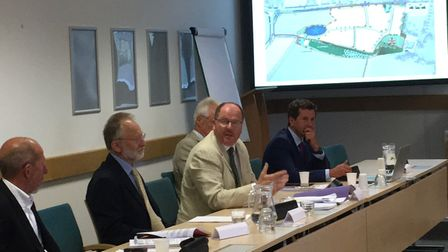 Mid Norfolk MP George Freeman at Breckland Council planning meeting. Picture: Kathryn Cross