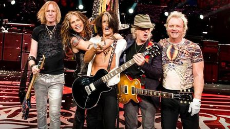 Final night headliners veteran rockers Aerosmith rolled back the years at Download Festival. Picture