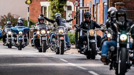 Harley Davidsons will be back in Fakenham town centre this weekend. Picture: Matthew Usher.