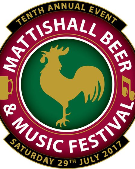 The 2017 logo for the tenth Mattishall Beer & Music Festival. Supplied by Poultec.