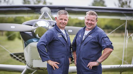 Wildcat Aerobatics pilots Willie Cruickshank and Al Coutts. Picture: Chris Taylor Photography