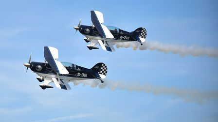 The Wildcats in the skies at the Old Buckenham Airshow. Picture: Sonya Duncan