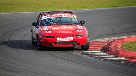 The Red 5 racing team�s Mazda MX-5 in action at Snetterton. Picture: Pete Leonard