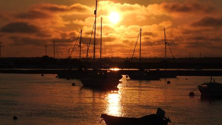 Sunset at Wells next the sea. Picture: Paul Reynolds