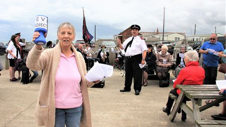 WEVA secretary Sylvia Andrews with the Salvation Army at Walcott. Picture: Maurice Gray