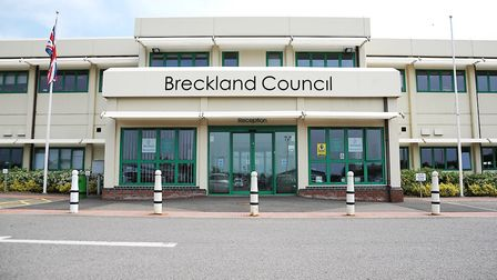 Breckland Council's offices in Dereham. Picture: Ian Burt