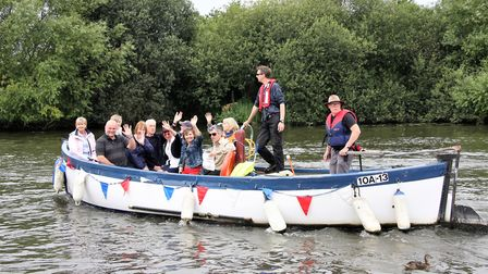 The new Horning Ferry Boat service on Norfolk Broads. Picture: Maurice Gray