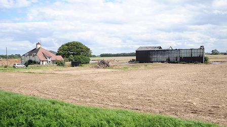 Fire has destroyed a large barn off the A17 at Wingland, near Sutton Bridge. Picture: Chris Bishop