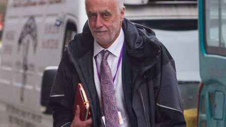 Dr Robert Stone arriving at his MPTS hearing at the GMC in Manchester in August 2016. Photo: Cavend