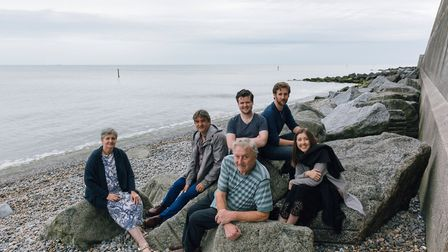 The cast of Under Milk Wood lap up the seaside atmosphere shared by Sheringham and Llareggub. Pictu