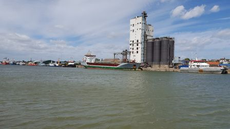 The busiest day of the year so far at the Port of Lowestoft. Vessels include, from the left, Wilchie