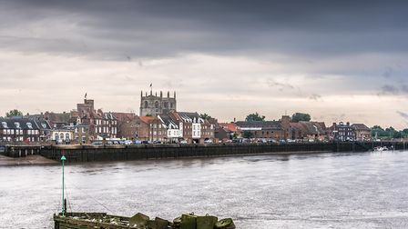 King's Lynn Waterfront viewed from West Lynn. Picture: Matthew Usher.