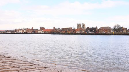 The King's Lynn waterfront seen from the banks of West Lynn. Picture: Ian Burt