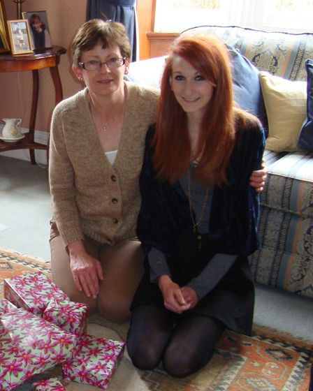 Lydia Stafford pictured on her 18th birthday with her mother Deborah