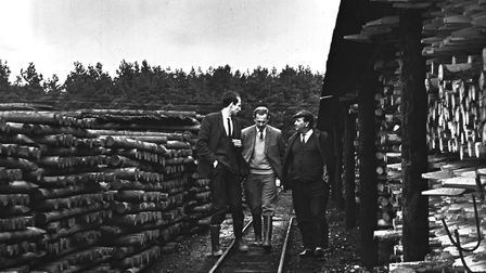 Thetford Forest and forestry. Pictured: Creosote plant, Santon Downham. Date: Apr 1969. Picture: EDP