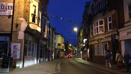 Armed police were called to Church Street in Cromer. Picture: Ally McGilvray