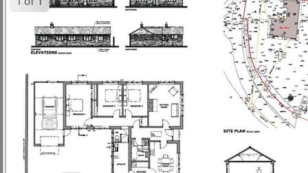 The plans for the new house, which have been passed
