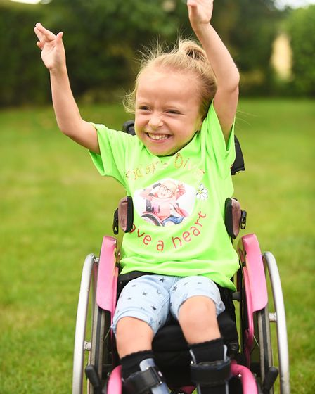 Daisy Mason (6) is taking part in a Superhero Series triathlon this weekend at Dorney Lake in Windso