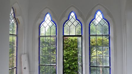 The Gothic windows at South Lodge